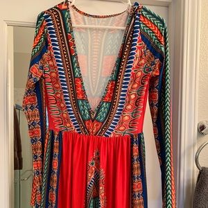 Colorful Floor length dress